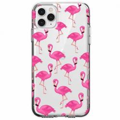 Etui na telefon Apple iPhone 11 Pro Max - Różowe flamingi.