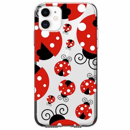 Etui na telefon Apple iPhone 11 - Czerwone wesołe biedronki.