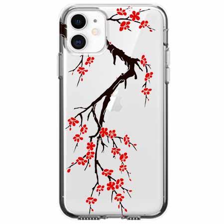 Etui na telefon Apple iPhone 11 - Krzew kwitnącej wiśni.