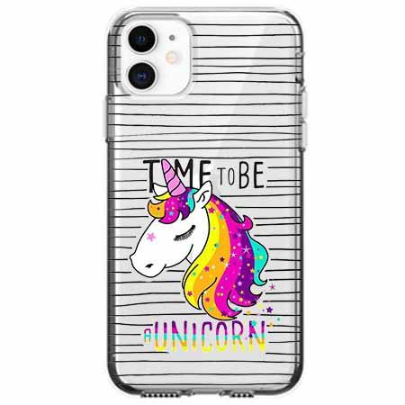 Etui na telefon Apple iPhone 11 - Time to be unicorn - Jednorożec.