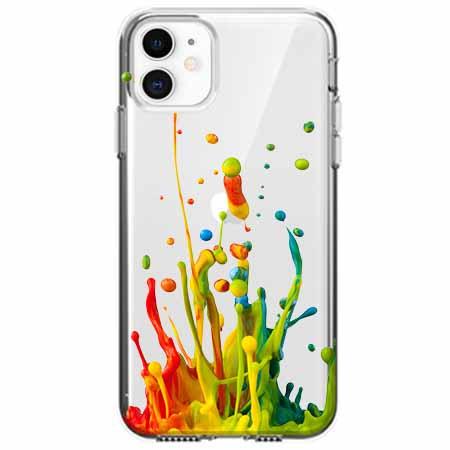 Etui na telefon Apple iPhone 11 - Kolorowy splash.
