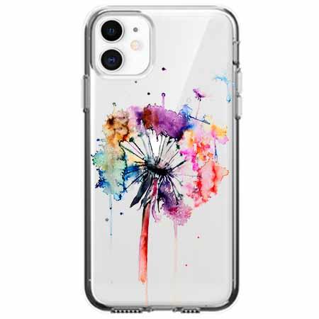 Etui na telefon Apple iPhone 11 -  Watercolor dmuchawiec.