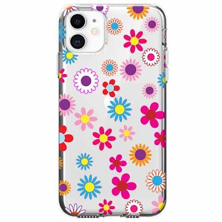 Etui na telefon Apple iPhone 11 - Kolorowe stokrotki.
