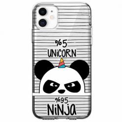 Etui na telefon Apple iPhone 11 - Ninja Unicorn - Jednorożec.