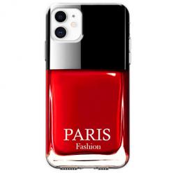 Etui na telefon Apple iPhone 11 - Czerwony lakier do paznokci