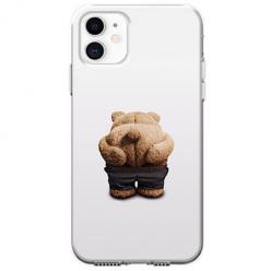 Etui na telefon Apple iPhone 11 - Miś z wypiętą pupą