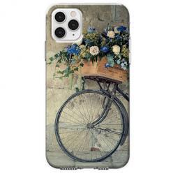 Etui na telefon Apple iPhone 11 Pro - Rower z kwiatami