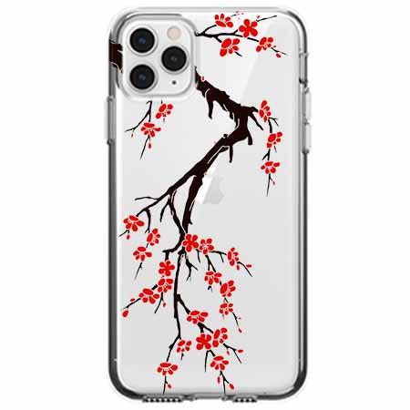 Etui na telefon Apple iPhone 11 Pro - Krzew kwitnącej wiśni.