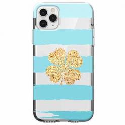 Etui na telefon Apple iPhone 11 Pro - Złota czterolistna koniczyna.