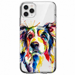 Etui na telefon Apple iPhone 11 Pro - Watercolor pies.
