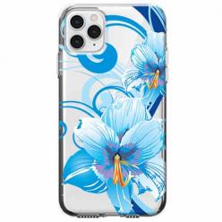 Etui na telefon Apple iPhone 11 Pro - Niebieski kwiat północy.