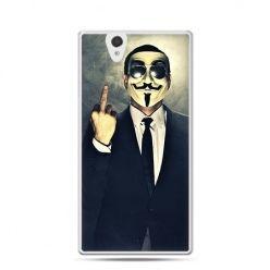 Anonimus Fuck You etui z nadrukiem dla  Xperia Z