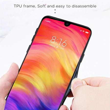 Etui na telefon Xiaomi Redmi Note 7 - Ombre Glass - Niebiesko/Rózowy.