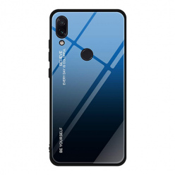 Etui na telefon Huawei P20 Lite - Ombre Glass - Czarno/Niebieski.