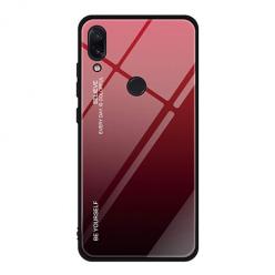 Etui na telefon Huawei P Smart 2019 - Ombre Glass - Czarno/Czerwony.