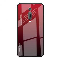 Etui na telefon Xiaomi Mi 9T - Ombre Glass - Czarno/Czerwony.