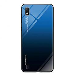 Etui na telefon Samsung Galaxy A10 - Ombre Glass - Czarno/Niebieski.
