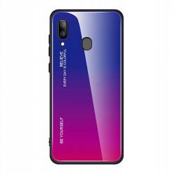Etui na telefon Samsung Galaxy A40 - Ombre Glass - Niebiesko/Różowy.