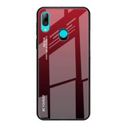 Etui na telefon Huawei P Smart Z - Ombre Glass - Czarno/Czerwony.