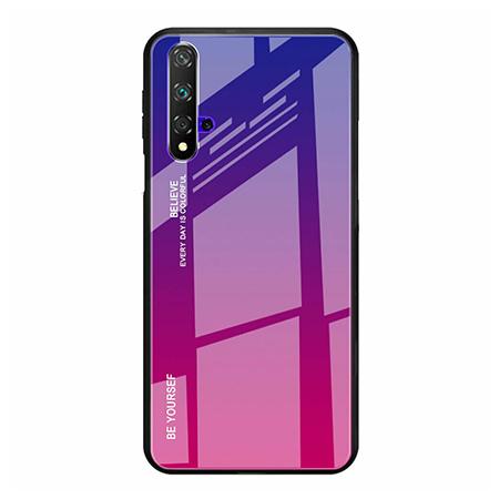 Etui na telefon Huawei Honor 20 - Ombre Glass - Niebiesko/Różowy.