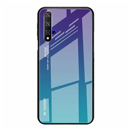 Etui na telefon Huawei Honor 20 - Ombre Glass - Fioletowo/Morski.
