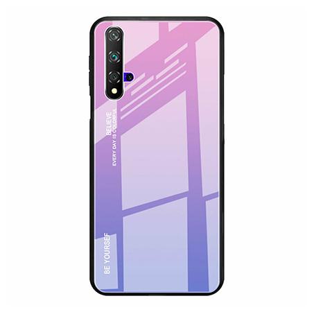 Etui na telefon Huawei Honor 20 - Ombre Glass - Różowo/Fioletowy.