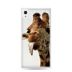 Żyrafa z językiem etui z nadrukiem dla Xperia Z2