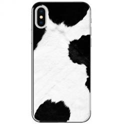 Etui na telefon iPhone X - Biało czarna krowa