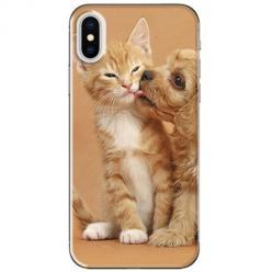 Etui na telefon iPhone XS Max - Jak pies z kotem