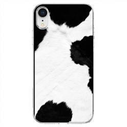 Etui na telefon iPhone XR - Biało czarna krowa