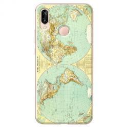 Etui na Huawei P20 Lite - Mapa świata