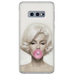 Etui na Samsung Galaxy S10e - Monroe z gumą balonową