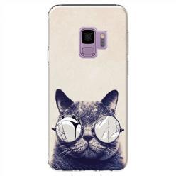 Etui na Samsung Galaxy S9 - Kot w okularach