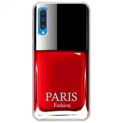 Etui na Samsung Galaxy A50 - Czerwony lakier do paznokci