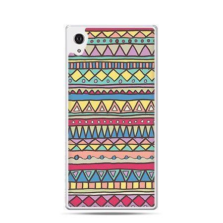 Azteckie wzory etui z nadrukiem dla  Xperia Z2 twarde plastikowe
