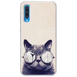 Etui na Samsung Galaxy A50 - Kot w okularach
