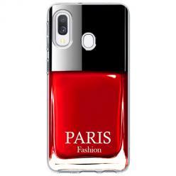 Etui na Samsung Galaxy A40 - Czerwony lakier do paznokci