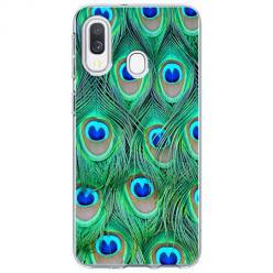 Etui na Samsung Galaxy A40 - Pawie Pióra