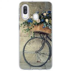 Etui na Samsung Galaxy A40 - Rower z kwiatami