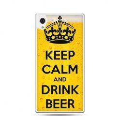 Keep Calm and Drink Beer etui z nadrukiem dla  Xperia Z2