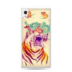 Tygrys z motylami etui z nadrukiem dla Xperia Z2
