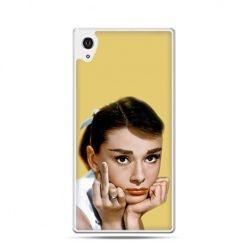 Audrey Hepburn fuck you etui z nadrukiem dla Xperia Z2