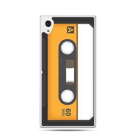 Kaseta magnetofonowa etui z nadrukiem dla  Xperia Z2 twarde plastikowe