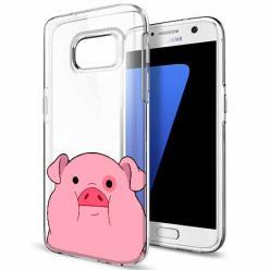 Etui na Galaxy S7 - Słodka różowa świnka.