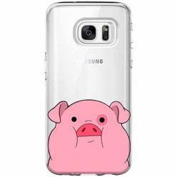 Etui na Galaxy S7 Edge - Słodka różowa świnka.