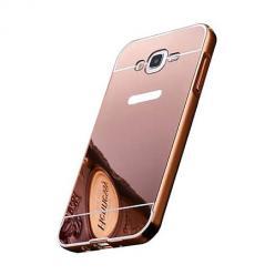 Mirror bumper case na Galaxy J7 2016 - Różowy