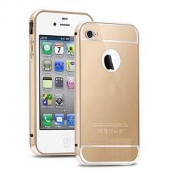 iPhone 6 PLUS, etui aluminium bumper case złoty