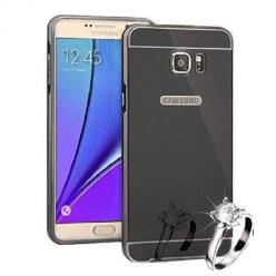 Mirror bumper case na Galaxy Note 5 - Czarny