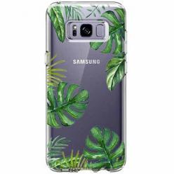 Etui na Samsung Galaxy S8 - Zielone liście palmowca