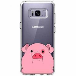 Etui na Samsung Galaxy S8 - Słodka różowa świnka.
